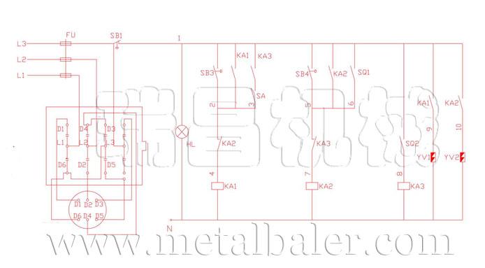金属剪切机电路图,液压剪切机电器原理图